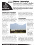 Cover image of Manure Composting for Livestock and Poultry Production factsheet