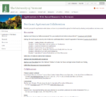 University of Vermont Agritourism Page